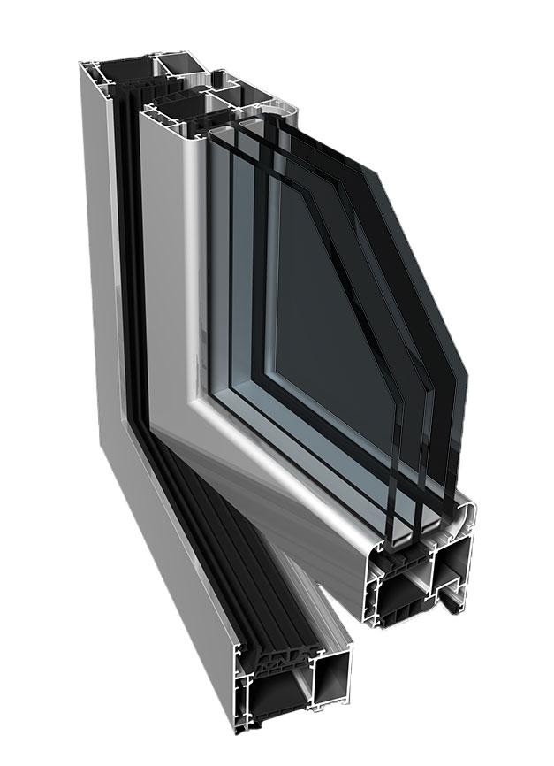 Okna aluminiowe profil PONZIO PE78