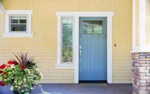 Drzwi zewnętrzne wejściowe - Nowoczesny Dom Chodzież