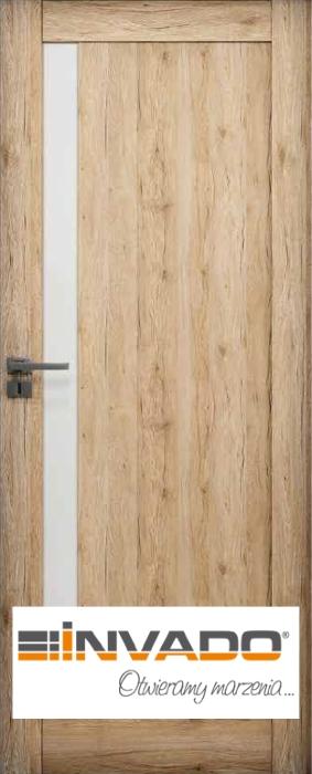 Drzwi wewnętrzne INVADO - drzwi szklane satynowe