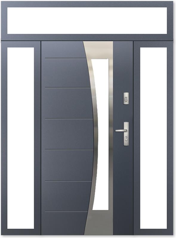 Drzwi wejściowe KMT z naświetlami